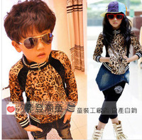 Leopard Print Black Children Coat  Gilrs Jacket Baby Outerwear Supernova Sale Boy Coat wholesale 5pcs/lot FREE SHIPPING ailan