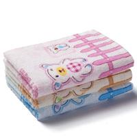 Child faceable waste-absorbing 100% soft cotton children towel