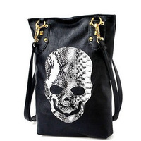 Trend 2012 women's handbag skull rivet one shoulder fashion women's cross-body bags brief faux