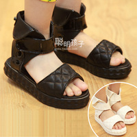 Female child 2013 casual child baby plaid open toe open toe platform sandals shoes 0863