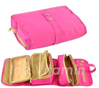 NEW Roll up Travel Organizer Shaving Case Toiletry Cosmetic Makeup Hanging Bag Holder 3 Colors Available