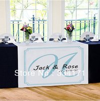 new arrival Personalized wedding reception table runner Marriage day