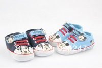 Free shipping High quality kid's shoes newborn baby boy.girl Mickey shoes baby first walkers shoes Wholesale retail