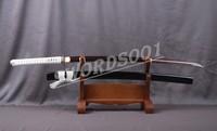 Art Japanese Katana Damascus Folded Steel Practical Samurai Sword Red Blade 723