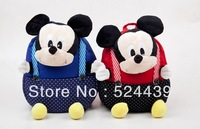 Free Shipping!!3pcs/lot Baby Cartoon Mickey/Minnie bags,Cute schoolbag,Boy/Girl Fashion backbags