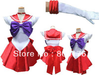 free shipping Sailor Mars Cosplay Sailor Moon Costume Fancy Dress S/M/L/XL UK 8/10/12/14/16