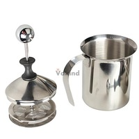 V1NF 200mL Stainless Steel Milk Frother Double Mesh Milk Creamer Milk Foam