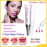 7days magic pink up lip plump permanent makeup cosmetics,Rosy Red lip lip balm