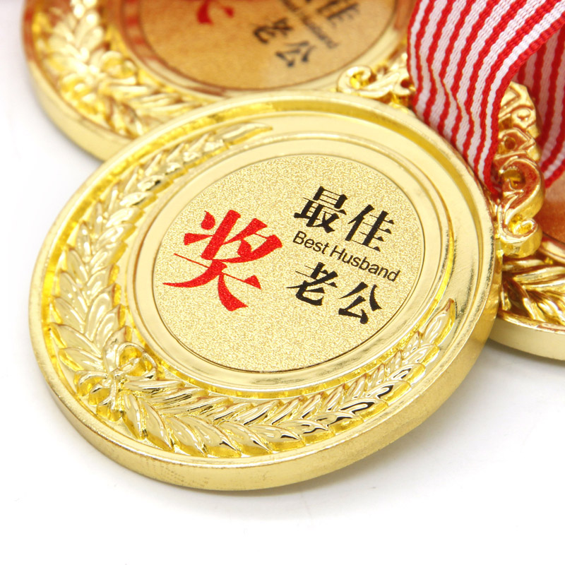 Gold medal for birthday gift small gift teachers day gift(China (Mainland))