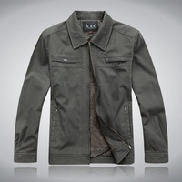 2012 male jacket quinquagenarian spring and autumn outerwear men's clothing jacket turn-down collar jacket male