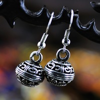 Vintage national trend accessories handmade silver earrings Women accessories 2013 64