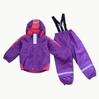Child one piece skiing underwear ski suit set child outdoor jacket