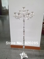 Tallest candelabra for weddings, 105cm height 7-arms candle holder, silver plate finish candle stick