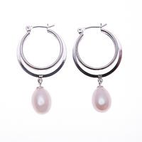Gorgeous AA  Flawless  8-9mm fresh   water pearl  silver eardrop earring