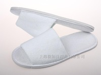 Freeshipping 5pieces a lot SPA slippers,Pure white Towel cloth open toe slippers for hotels,indoor,SPA,Travel