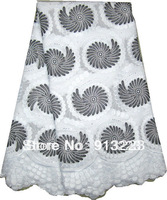 African Swiss Voile Lace High Quality 100% Cotton Lace Fabric Free Shipping NL497D