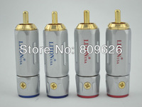 USA Liton Pure Copper Gold Plated RCA Adapter 4pcs