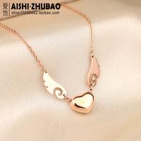 Free Shipping Titanium necklaces female short design chain fashion pendant hangings