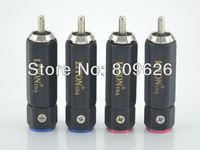 4/pcs USA Liton Pure Copper rhodium Plated RCA Connector