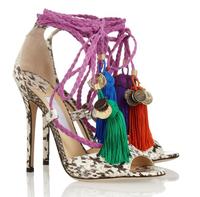 Brand Fashion Ankle Rop Tie Elaphe High Heels Sandals 2014 Platform Python Pumps Women Prom Dress Shoes