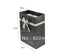 33*26*10CM Han edition black spot on the new version vertical bag paper bag gift bag paper bag large wholesale