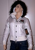 FREE SHIPPING Ed hardy wadded jacket women's wadded jacket wadded jacket outerwear medium-long cotton-padded jacketED 02