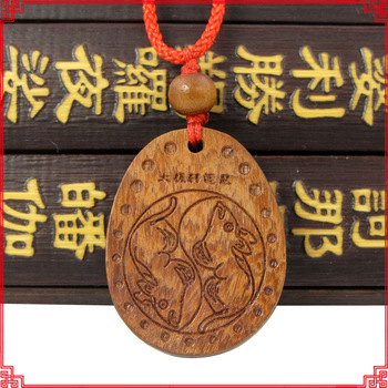 Free Shipping Cherry wood rat zodiac pendant transhipped apotropaic fortune