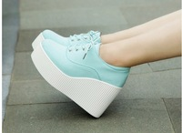 Free shipping 2013 canvas high heel women's shoes fashion  sneaker for women wholesale design brand shoes sapatilha,34