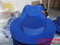 Wool hat for man fedoras blue fusion cap customize color measurement