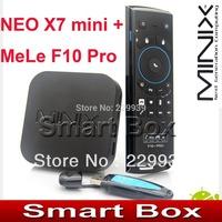 MINIX NEO X7 mini X7mini Quad core RK3188 2G 8G TV BOX set top box Android 4.2.2 rk3188 + MELE F10 PRO FLY AIRMOUSE