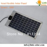 aluminum no frame Mini flexible small solar panel 10Watt 17.8V  440*246*2.5mm