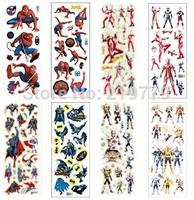 16designs mixed Self-adhesive Cute 3D DIY Kids Foam Stickers Toy Children Cartoon Puffy Sticker Ultraman Spiderman for boys