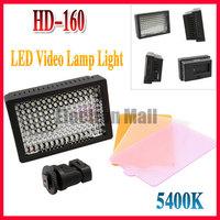 Professioanl HD-160 LED Video Light Camera DV Camcorder Lighting 5400K, Free Shipping & Drop Shipping!!