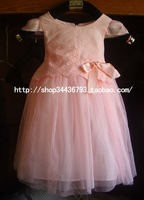 Children's clothing female child one-piece dress 2013 child princess dress tulle dress puff skirt