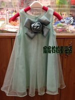 Summer new arrival 2013annica female child corsage gauze cotton one-piece dress child princess skirt