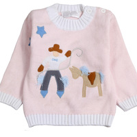 300 120 baby cartoon 100% cotton sweater child fashion buckle sweater