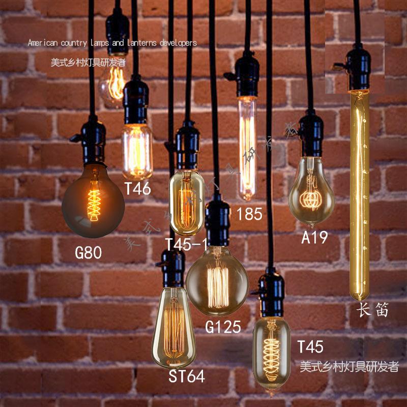 Edison light bulb pendant light vintage nostalgia diy pendant lamp clothes bar table decoration pendant light(China (Mainland))