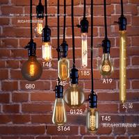 Edison light bulb pendant light vintage nostalgia diy pendant lamp clothes bar table decoration pendant light