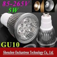 DHL FreeShipping 50PCS/LOT Energy Saving GU10 LED Bulb lamp 85~265V 5W 500-550LM led Spotlight White/Warm white led lamp