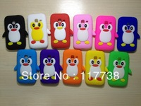 Soft Silicone 3D penguin Case Cover for samsung galaxy s6802  s6352 free shipping