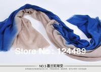 Inner Mongolia plateau a cashmere shawls, diamond stone weaving process, color gradient, ladies long scarf