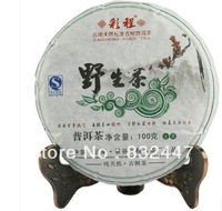 Old trees 100g   puerh tea health care Pu er China weight lose pu erh decompress pu'er brick PuerBig snow mountain Wild tea