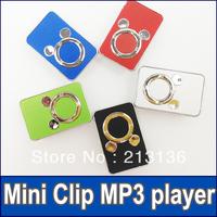 300pcs New arrival Mini Clip MP3 Cartoon MP3 player Digital Music Player No accessory wholesale