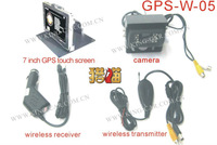 brand new high quality 24Voltage  one wireless reverse camera 7inch GPS function monitor wireless transmittor for bus  truck