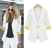Free shipping fashion lady jacket outerwear, top quality women business slim suit 2013  famous design popular