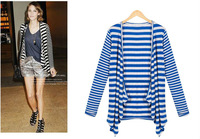 Free shipping fashion lady short  outerwear, top quality women business slim suit 2013 striped modal