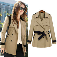 Free shipping fashion lady short  outerwear, top quality women business slim suit 2013 Black khaki color