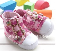Free shipping Wholesale Baby Toddler Shoes Girl Canvas Shoes Kid First Walkers Shoes Soft Baby Shoe 3 pair/lot