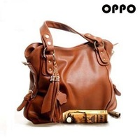 Fashion brief  for oppo   genuine leather cowhide tassel vintage one shoulder cross-body handbag female