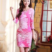 Free shipping 20141157 2013 autumn z zl fashion gentlewomen flower one-piece dress
